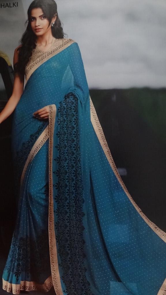 Elegant Blue Saree