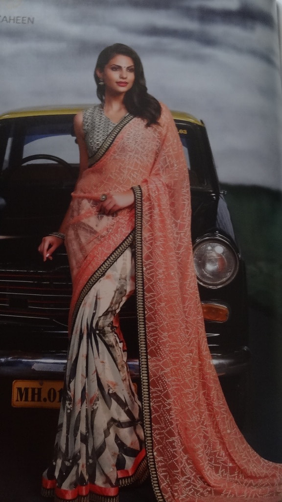 Phenomenal Pink-White Printed Saree