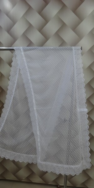 Net White Stole