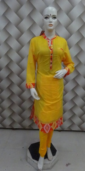 Yellow Cotton Kurtie