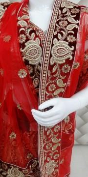 Double share bridal lehanga