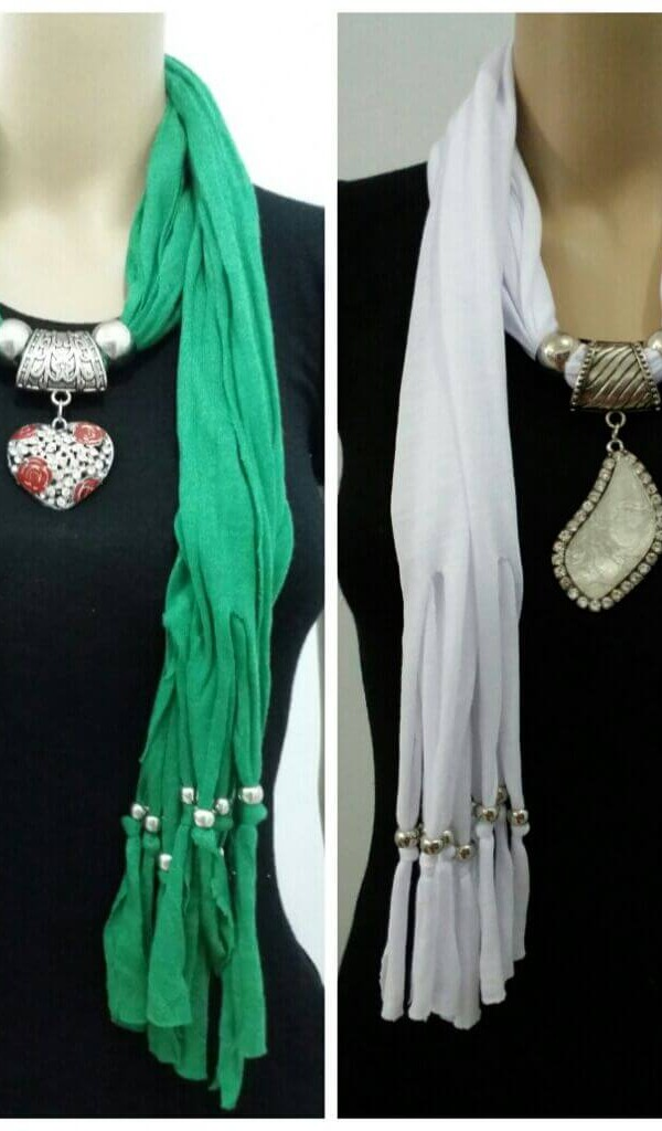 Rich Look Jewelry Necklace Scarf  1