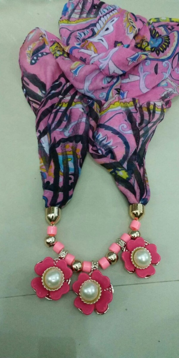 Stylish Jewelry Necklace Scarf  1