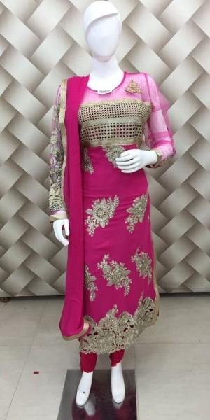 Rani Color Heavy Zari Work Suit
