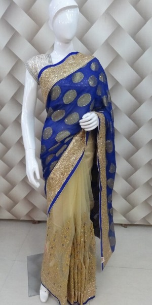 Exclusive Blue Saree