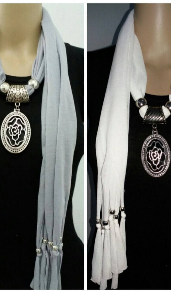 Gorgeous Jewelry Necklace Scarf  1