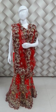 Red color bridal lehanga