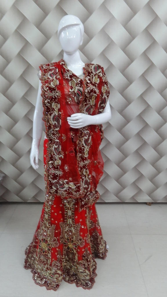 Red color bridal lehanga 1