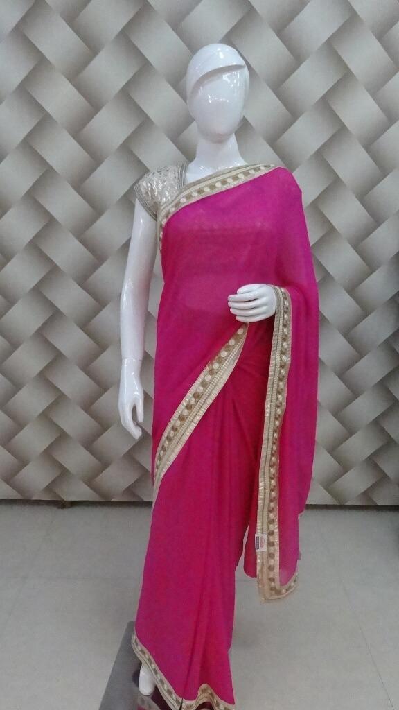 Trendy Pink Saree 1