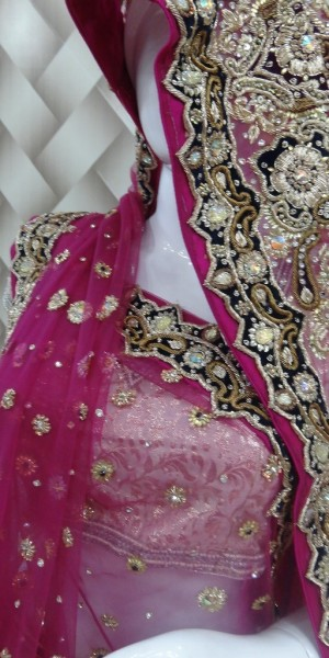 Designer red bridal lehanga