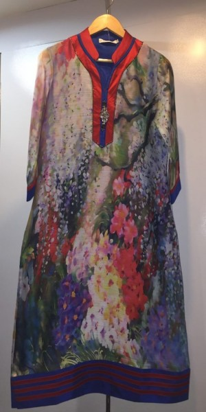 Beautiful Multi Color Goergette Digital Print Kurtie