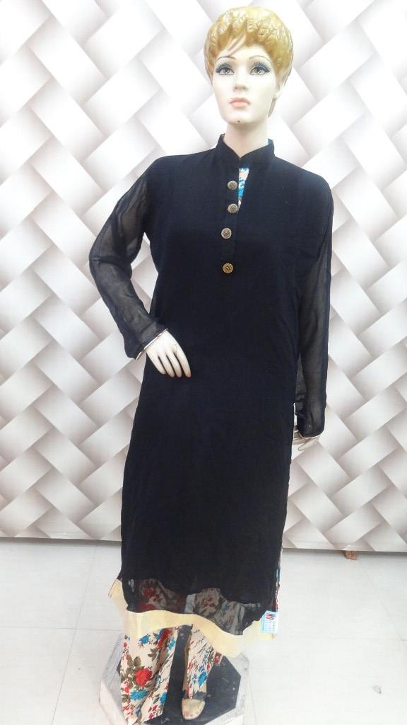 Beautiful Black Long Suit 1