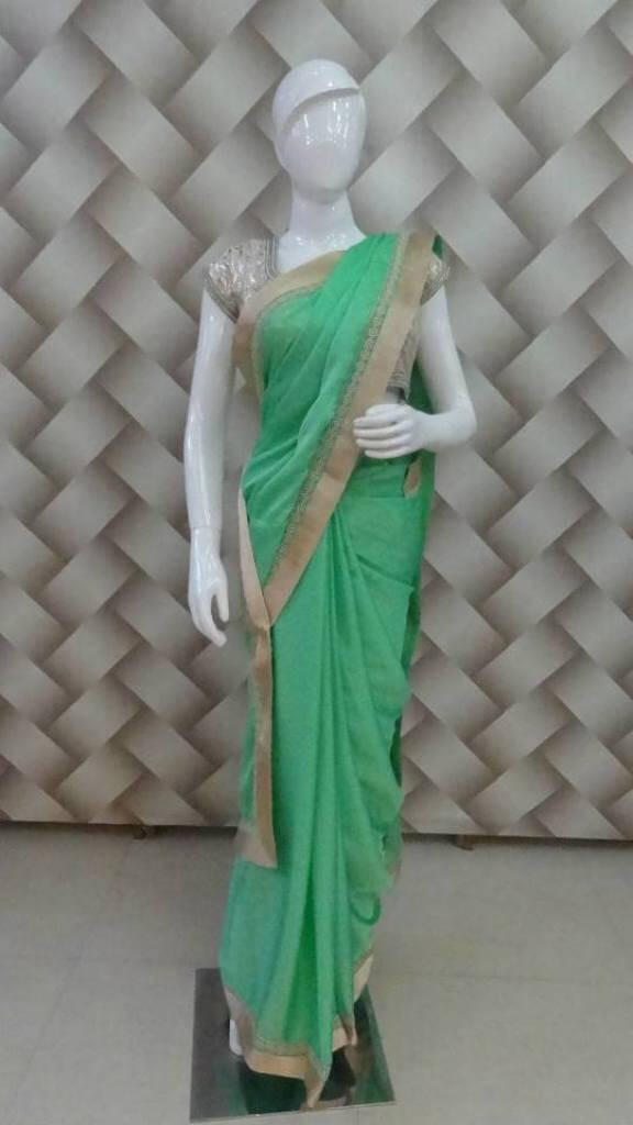 Florence Green Embroidered Saree 1