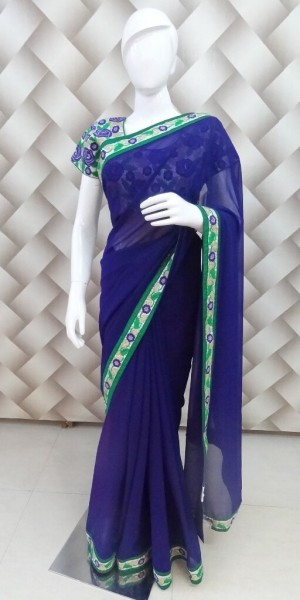 Beatiful Bargandi Saree