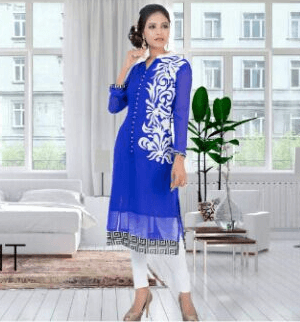 Gorgeous Girlish Blue Color Suit