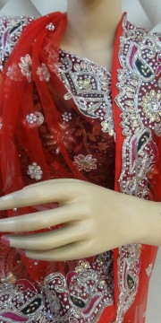 Exclusive red color lehanga