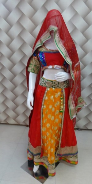 Designer brokete yellow Lehenga