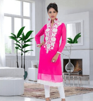Lovely Girlish Pink Color Suit