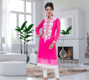Lovely Girlish Pink Color Suit  1