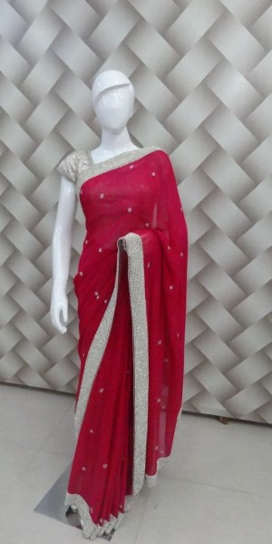 Beautiful Faux Goergette Saree