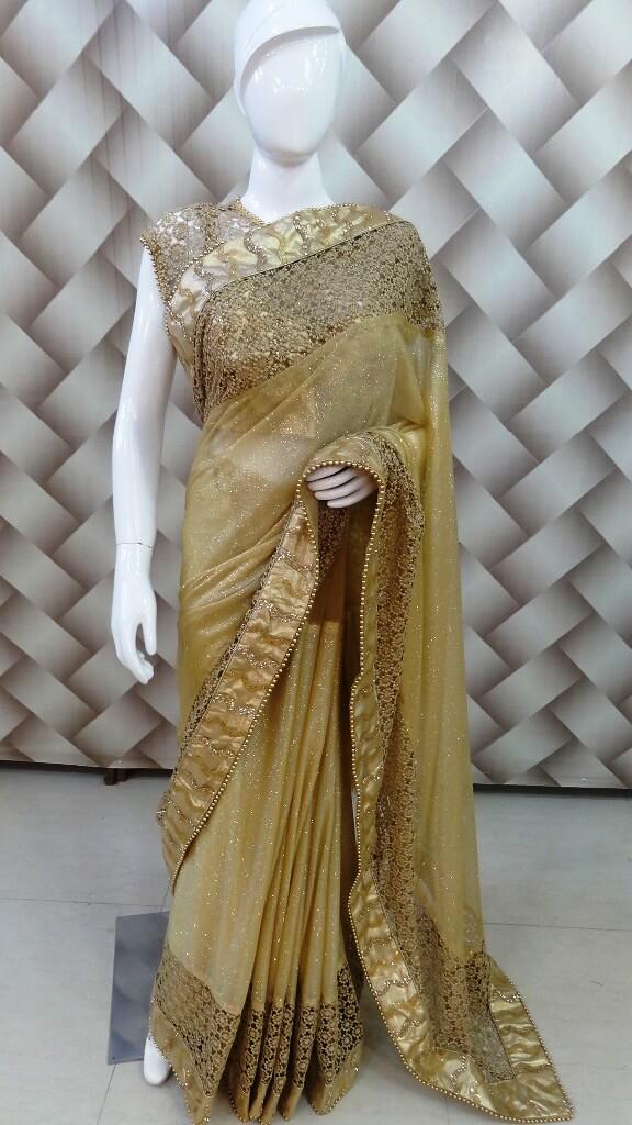 Fabulous Golden Saree 1