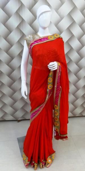 Ravlishing Red Saree