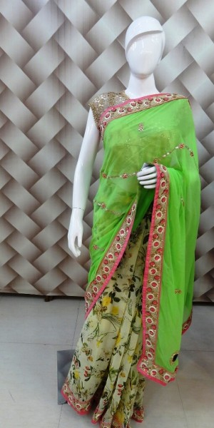 Fresh Cooling Green Saree