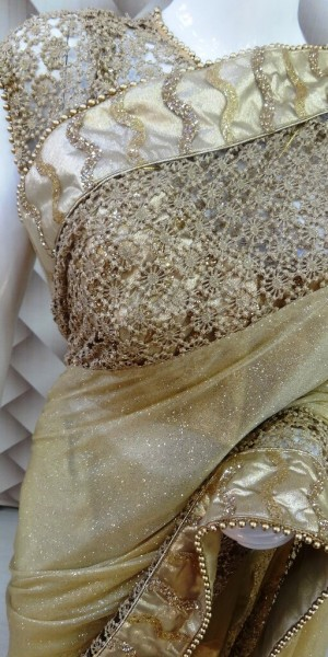 Fabulous Golden Saree