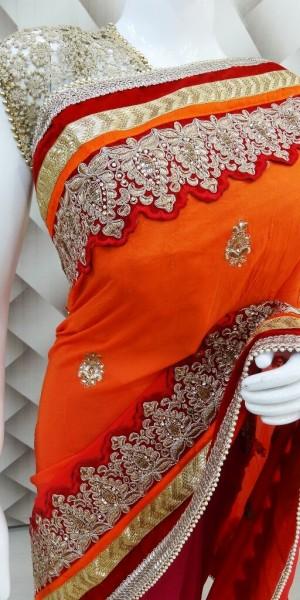 Magnificent Magenta Saree