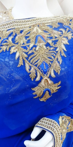 Royal Golden - Blue Saree
