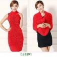 Red Color Fancy Woolen Stole