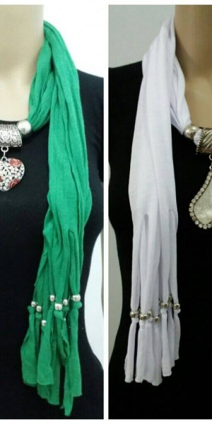 Rich Look Jewelry Necklace Scarf