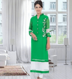 Lovely Girlish Green Color Suit