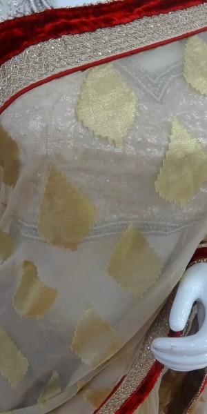Golden Net Sobar Touch Saree
