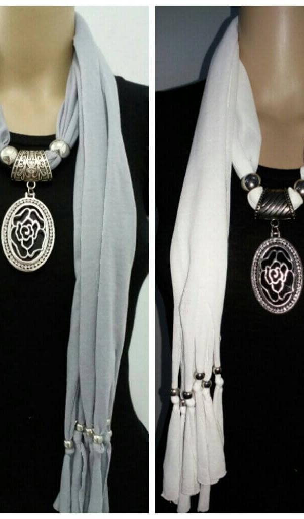 Gorgeous Jewelry Necklace Scarf  1
