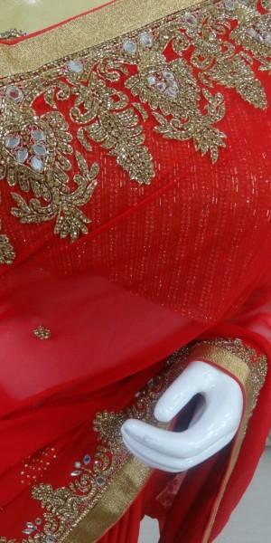 Karwachoth special red Saree