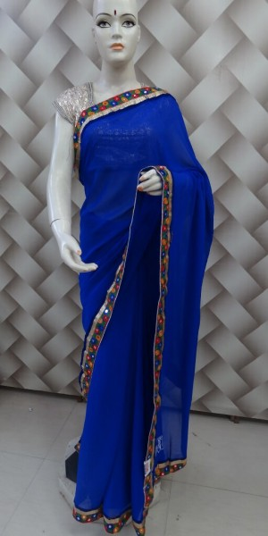 Designer Gujrati Work Saree