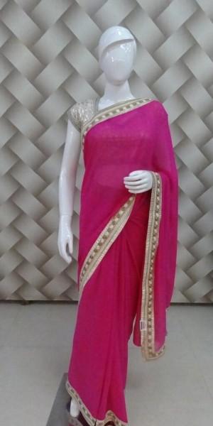 Trendy Pink Saree