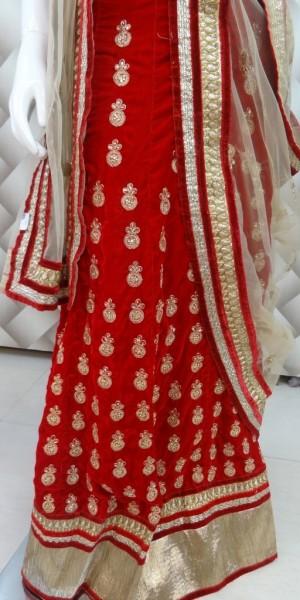Red valvet Lehenga