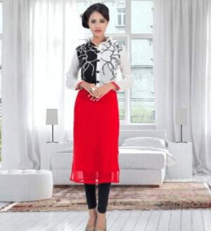 Beautiful Girlish Suit (Red, Black, White)