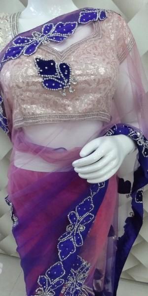 Stylish Lehenga Style Saree