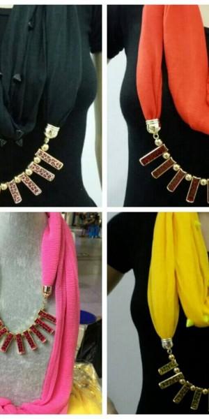 Stylish Jewelry Necklace Scarf (4 Colours)