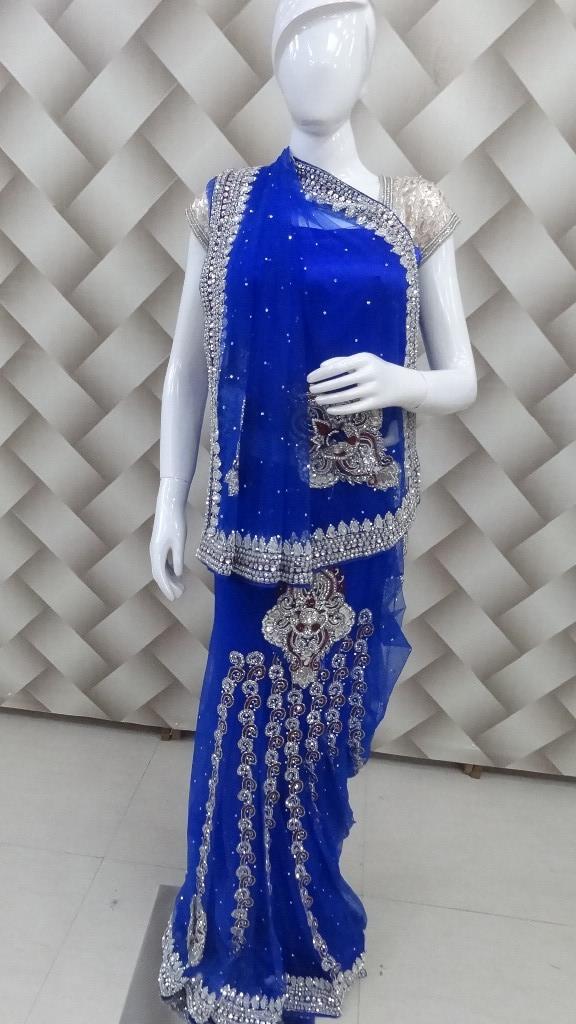Stylish Lehenga Style Saree  1
