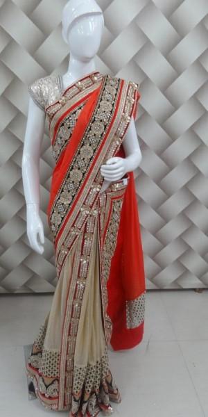 Duppata Style Designer Saree