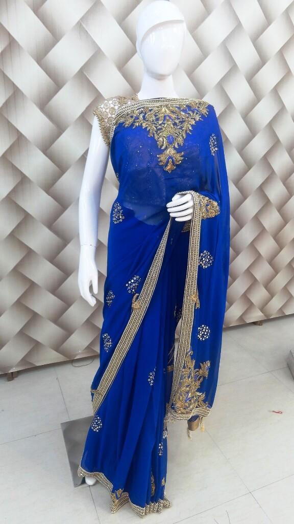 Royal Golden – Blue Saree 1