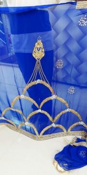 Royal Golden - Blue Saree