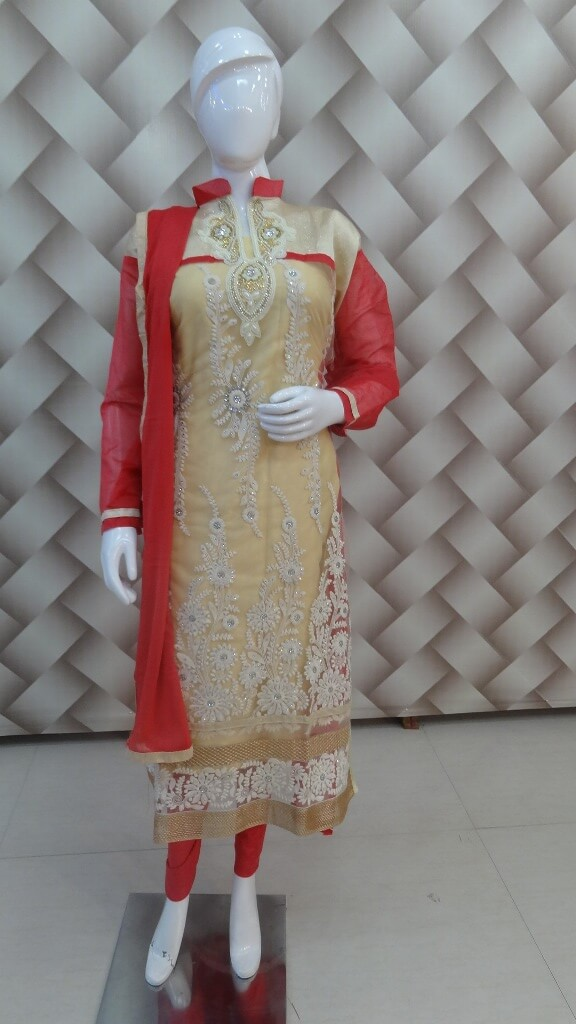 Beige And Peach Goergeous Suit