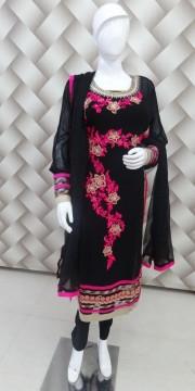 Goergeous Black And Mergenta Suit